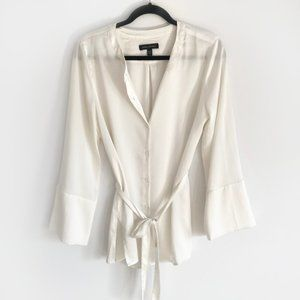 Cream/White Banana Republic Blouse Bell Sleeves